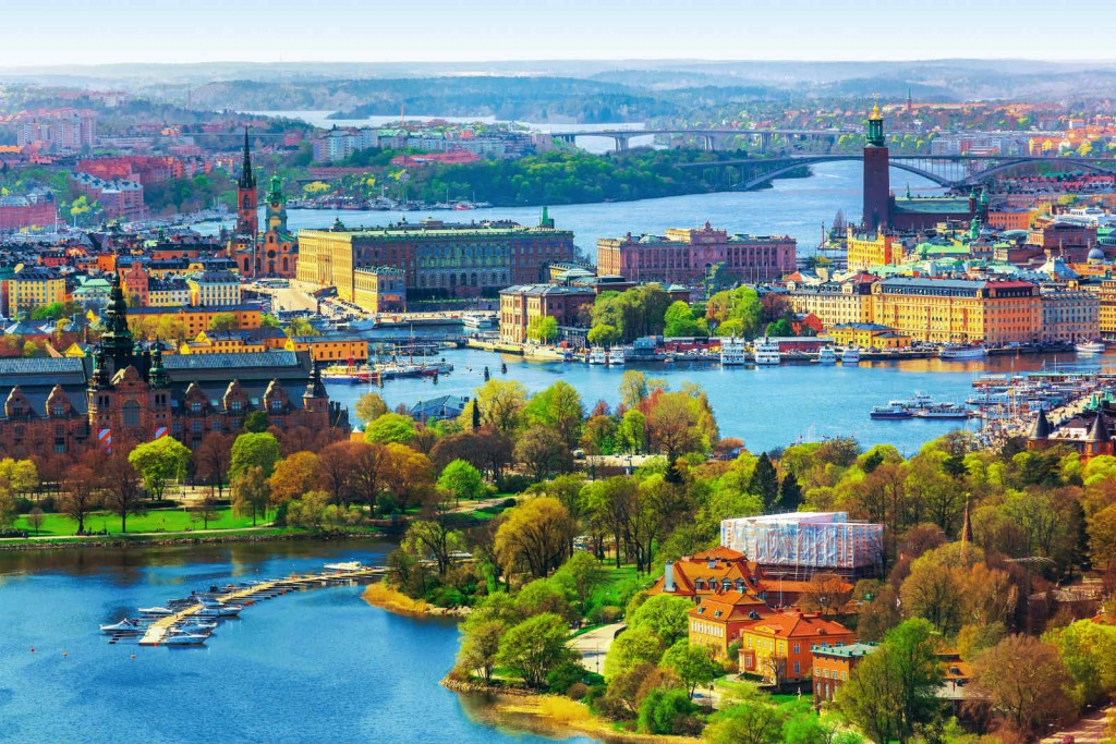 Stockholm, Sweden. The capital city spreads out over 14 islands.