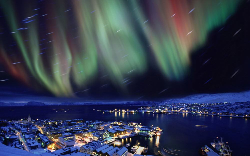 Hammerfest, a place Aurora Borealis feels at home.