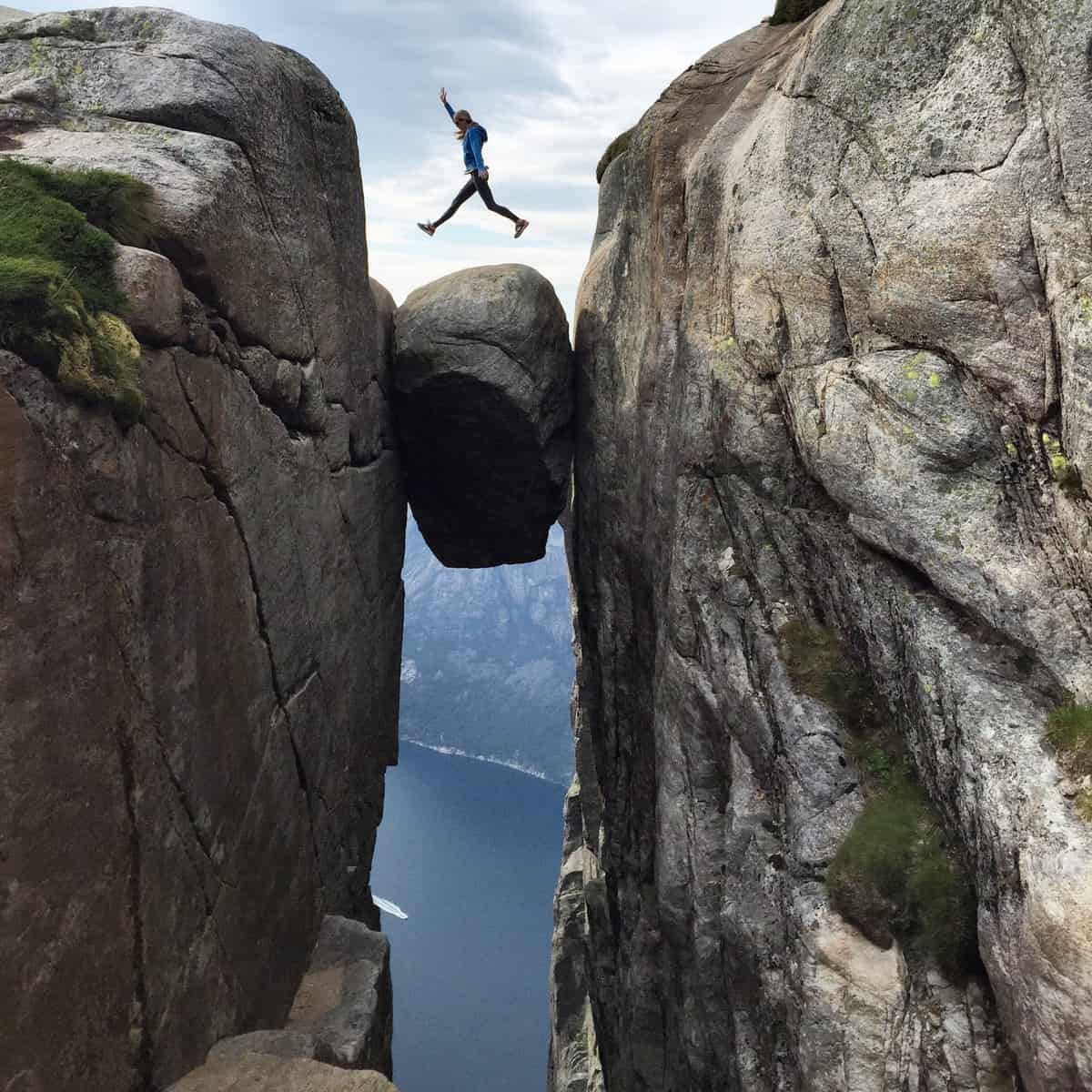 The hike to Kjerag climbs 570 meters and takes around 5 hours.