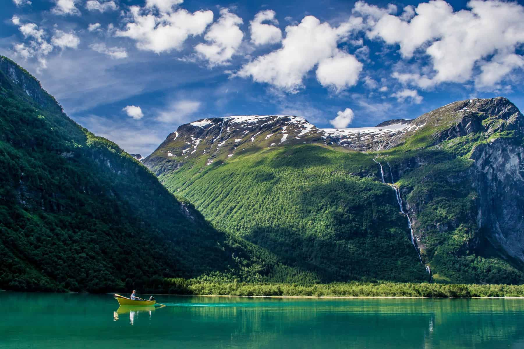 Lodalen Valley and Lovatnet Lake. Photo by Paula Lauberg
