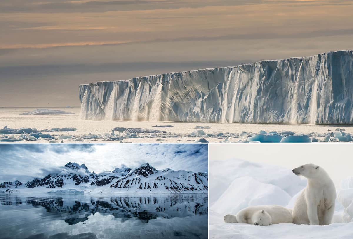 The remote Svalbard, the home of glaciers, polar bears, reindeer and arctic foxes.
