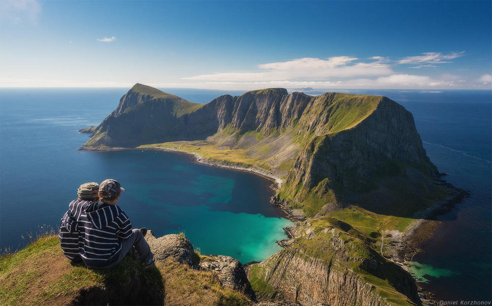 Værøy Island seen from one of its peaks. Photo by Daniel Kordan