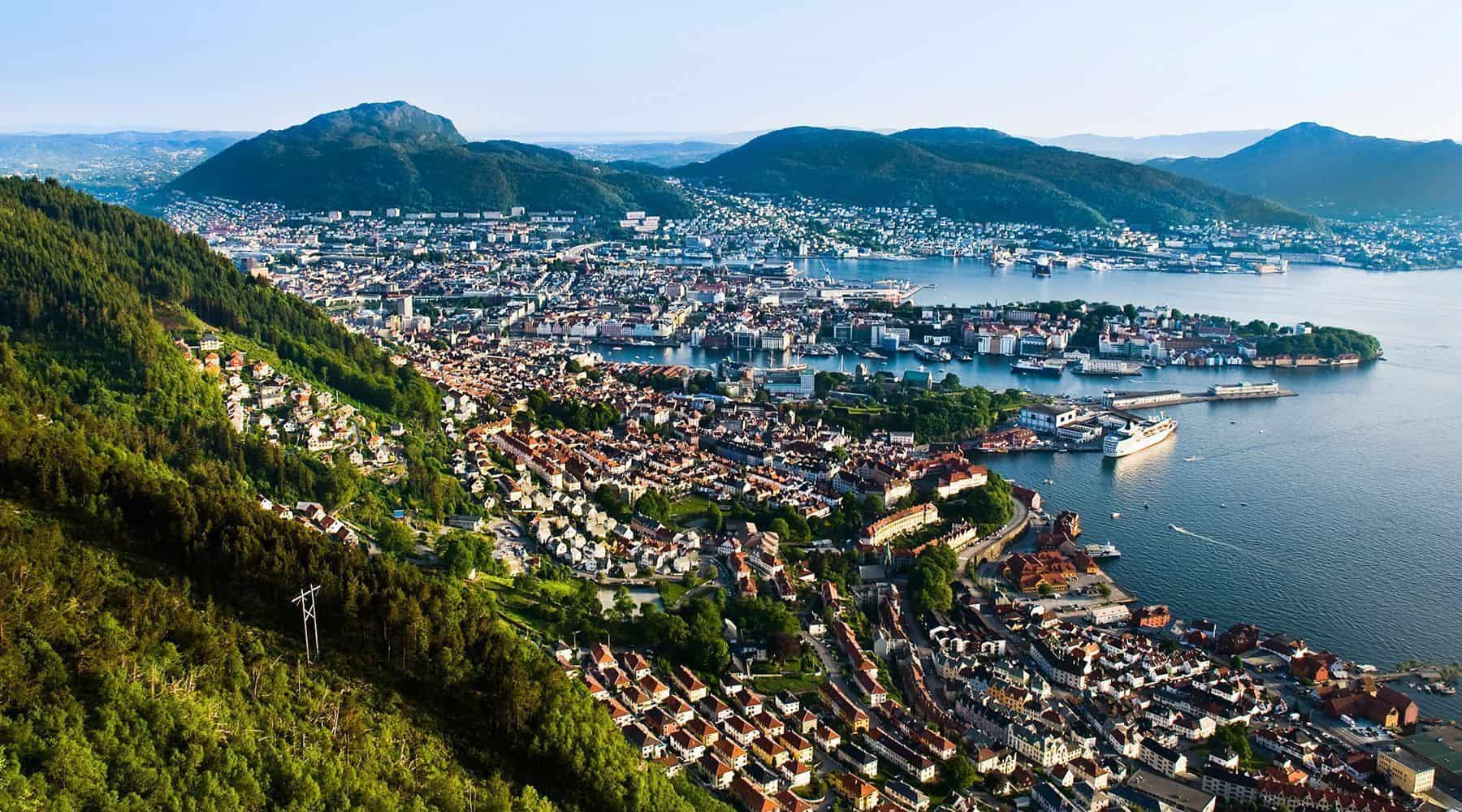 Bergen seen from above