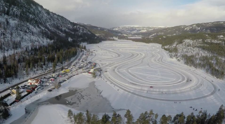 Sigdal frozen lake racetrack