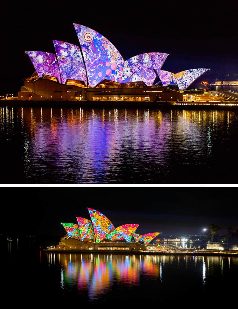 Projections on Sydney's Opera House