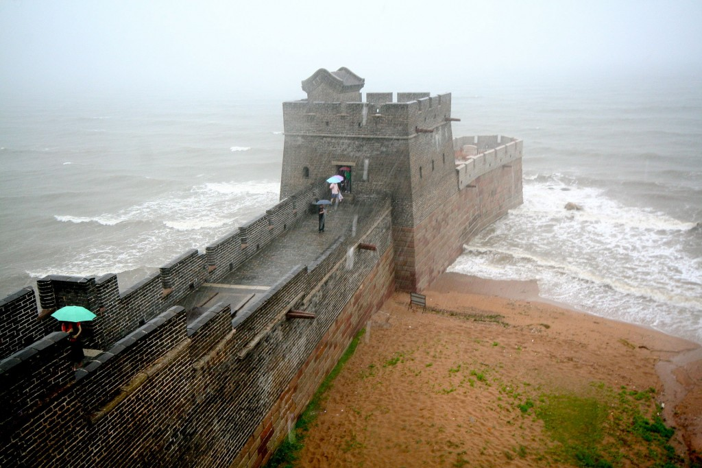 The Shanhai Pass is where the Great Wall of China meets the ocean. Photo by Fuzheado