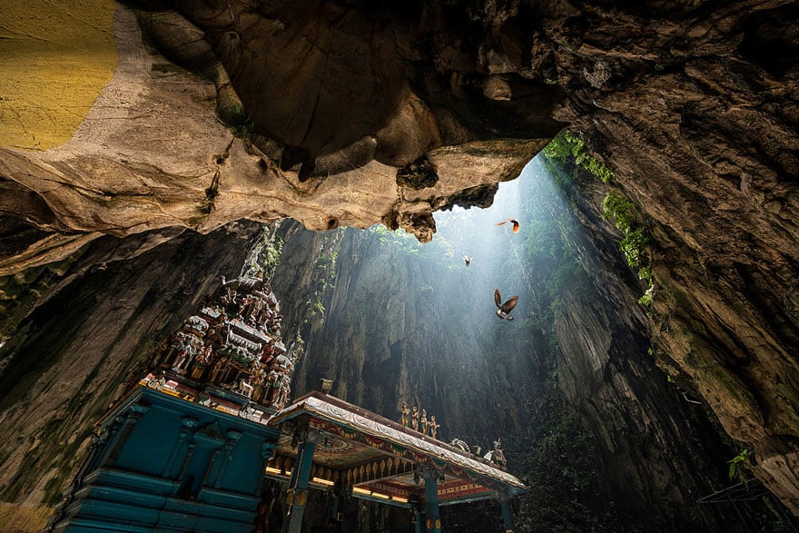 Inside Batu Caves. Photo by Danny Xeero