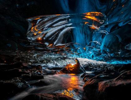 Kverkfjöll Glacier Cave. Cave in Iceland, Europe