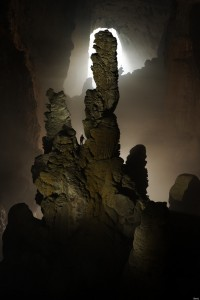 VIETNAM - FEBRUARY 16: The Hand of Dog stalagmite in Hang Son Doong Cave. (Photo by Carsten Peter/National Geographic/Getty Images)