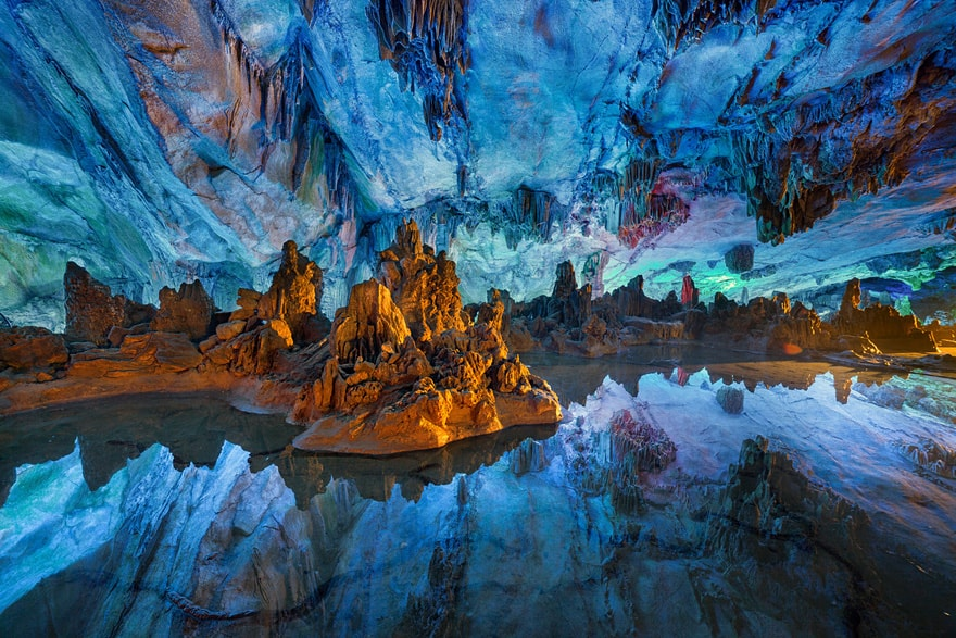 Reed Flute Cave China Photo by Peter Stewart
