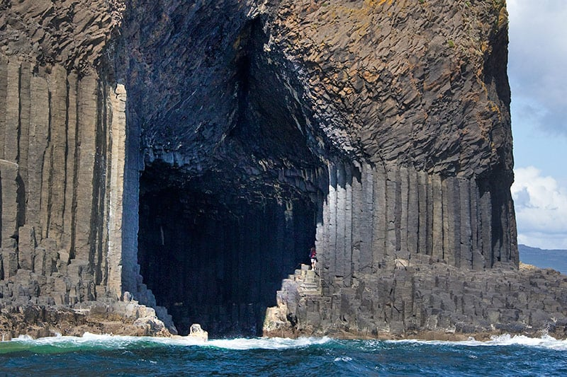 The enterance of Fingal's cave