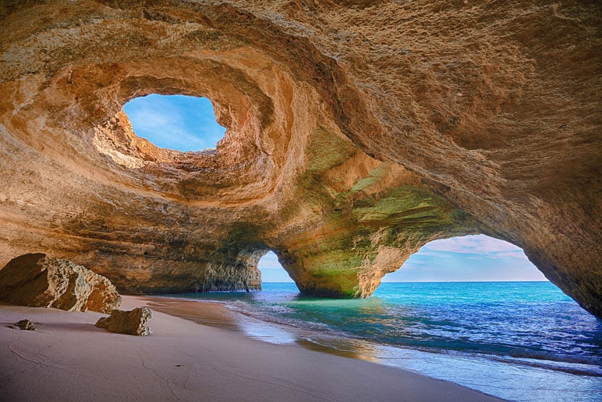 This cave is only accessible by water. Photo by Bruno Carlos